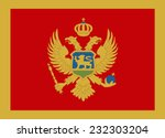 flag of montenegro vector... | Shutterstock .eps vector #232303204