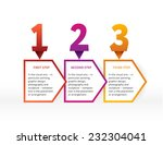 modern colorful numbers with... | Shutterstock .eps vector #232304041