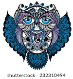 owl.decorative bird | Shutterstock .eps vector #232310494
