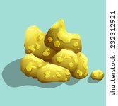 gold ore. vector illustration.