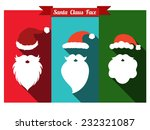 santa claus face flat icons... | Shutterstock .eps vector #232321087