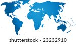 world map isolated | Shutterstock .eps vector #23232910