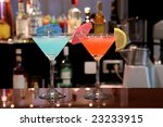 colorful cocktails at the night ... | Shutterstock . vector #23233915