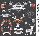 christmas chalkboard | Shutterstock .eps vector #232347874