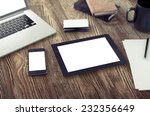 tablet on table | Shutterstock . vector #232356649