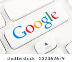 ������, ������: Google logotype printed on