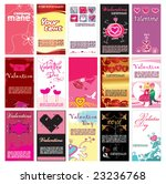 valentin s day cards templates...   Shutterstock .eps vector #23236768