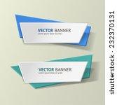 vector infographic origami... | Shutterstock .eps vector #232370131