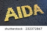 acronym 'aida' of the yellow... | Shutterstock . vector #232372867