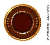 empty golden brown label. | Shutterstock . vector #232373491