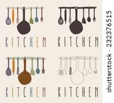 kitchen utensils set vector... | Shutterstock .eps vector #232376515
