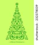 christmas card. christmas tree. ...   Shutterstock .eps vector #232378039