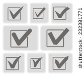 set of monochrome icons with... | Shutterstock .eps vector #232381771