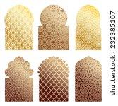 vector islamic window shapes   Shutterstock .eps vector #232385107