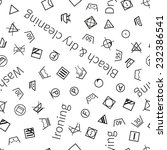 laundry symbols on white... | Shutterstock . vector #232386541
