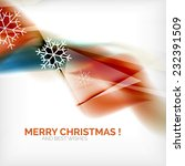 orange color christmas blurred... | Shutterstock . vector #232391509
