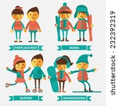 Постер, плакат: Set of vector illustration