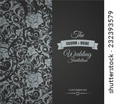 wedding invitation card... | Shutterstock .eps vector #232393579