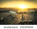 airplane at the terminal gate... | Shutterstock . vector #232394044