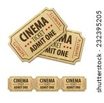 old cinema tickets for cinema.... | Shutterstock .eps vector #232395205