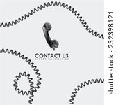 contact us graphic design , vector illustration