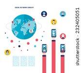 social network concept... | Shutterstock .eps vector #232405051