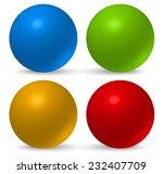 glossy  3d balls | Shutterstock .eps vector #232407709