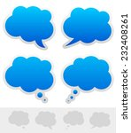 speech and thought bubble shapes   Shutterstock .eps vector #232408261