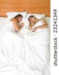 a homosexual couple sleeping in ... | Shutterstock . vector #23241349