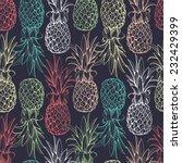 pineapples seamless pattern   Shutterstock .eps vector #232429399