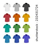 shirts with collar set  vector... | Shutterstock .eps vector #232431724