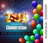 happy new year 2015 celebration ... | Shutterstock . vector #232433104