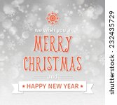 greeting card. merry christmas... | Shutterstock .eps vector #232435729