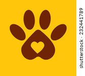dog paw   animal logo vector | Shutterstock .eps vector #232441789