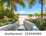 Boardwalk To A Beach In St....