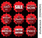 price tag red circle labels and ... | Shutterstock .eps vector #232446541
