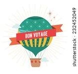 hot air balloon bon voyage...   Shutterstock .eps vector #232452049