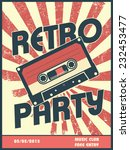 retro party music poster design ... | Shutterstock .eps vector #232453477
