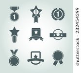 vector trophy and awards icons... | Shutterstock .eps vector #232454299