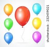 color glossy multicolored... | Shutterstock . vector #232459021