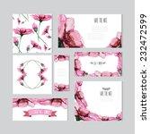 elegant watercolor pink floral... | Shutterstock .eps vector #232472599