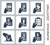 hand and document vector icon... | Shutterstock .eps vector #232477465