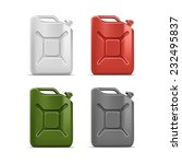 vector blank jerrycan canister... | Shutterstock .eps vector #232495837