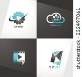 movie logo design template... | Shutterstock .eps vector #232497061