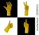 four yellow gloves indicate...   Shutterstock . vector #23250121