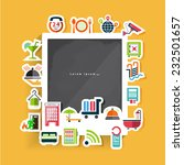 sticker hotel flat icons with... | Shutterstock .eps vector #232501657