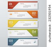 design clean number banners... | Shutterstock .eps vector #232501954