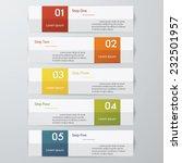 design clean number banners... | Shutterstock .eps vector #232501957