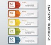 design clean number banners... | Shutterstock .eps vector #232501969