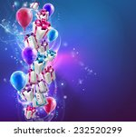 abstract gifts and balloons... | Shutterstock .eps vector #232520299